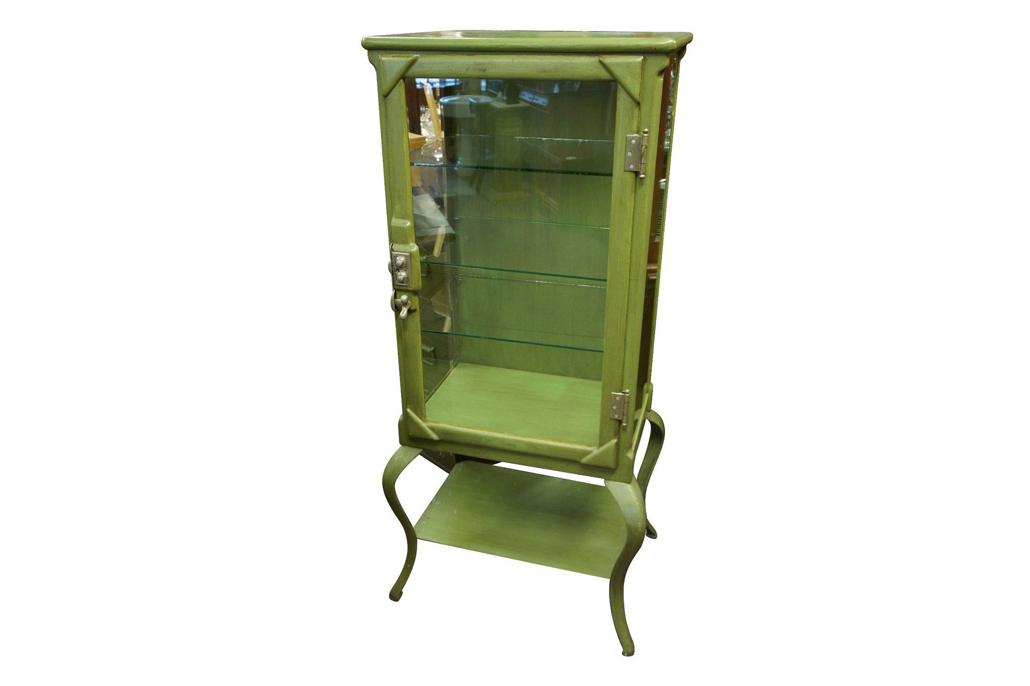 Rare Antique 19th Pharmacy Apothecary Cabinet Iron Dental Display Lock Medical Antique Medical Instruments